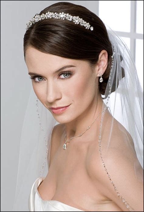 Wedding Hair With Veil And Tiara by Wedding Hairstyles With Tiara And Veil