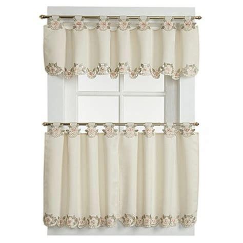 capri curtains buy capri window curtain valance in ecru peach from bed