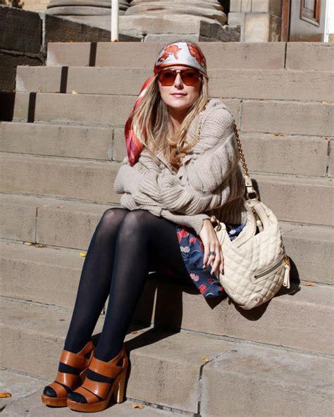 street style hair scarves toronto street style hermes scarves flare
