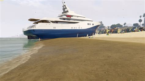 gta 5 water boat cheat drivable yacht iv add on gta5 mods