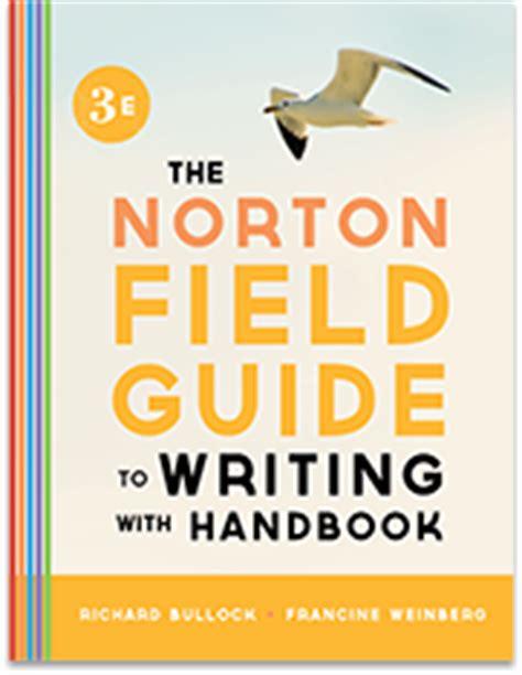 W W Norton Company Desk Copy by The Norton Field Guide To Go W W Norton