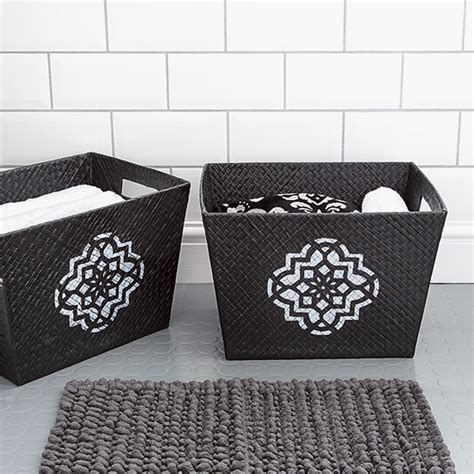 Storage Baskets Simple Accessories To Make Bathrooms Bathroom Storage Baskets Uk
