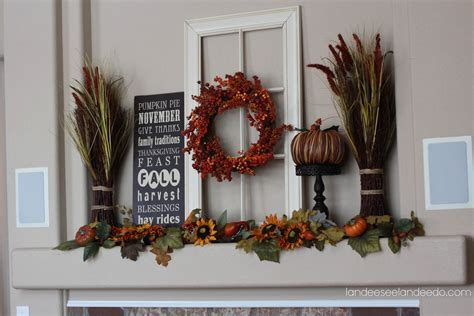 fall mantel decor fall mantel landeelu