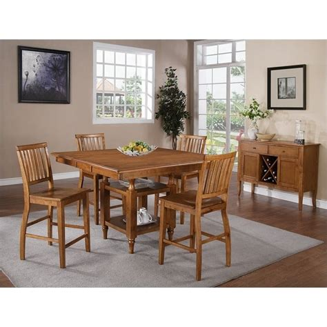 Steve Silver Company Lakewood Square Rectangular Counter Height Steve Silver Company Candice Counter Height W Butterfly Leaf Oak Dining Table Ebay