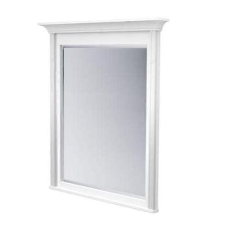 32 x 36 mirror kraftmaid 42 in l x 36 in w framed wall mirror in dove
