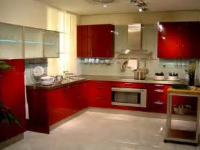 red paint wall kitchen interior design style