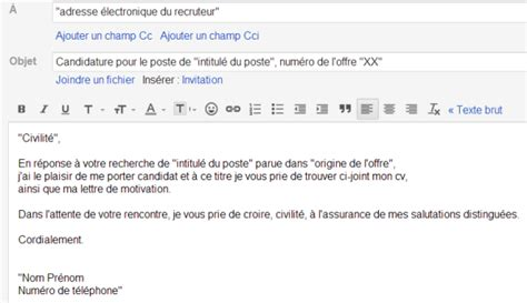 exemple mail lettres types psco