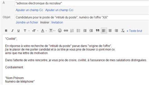 Lettre De Motivation Par Mail Modele Exemple Lettre De Motivation Email