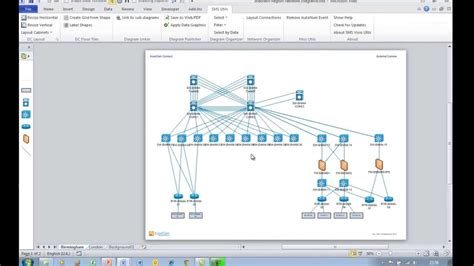 low level network diagram easily creating visio diagram quot drill quot hyperlinks to