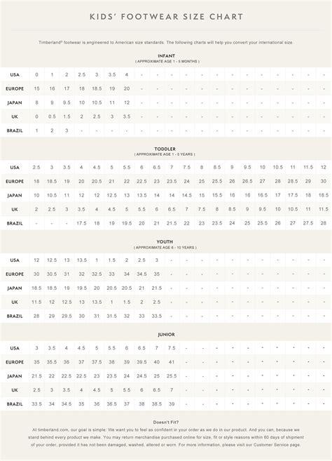 shoe size chart timberland u8ufdb6f discount timberland sizing chart