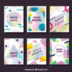 holographic cards templates free pack of cards with abstract shapes and holographic effect