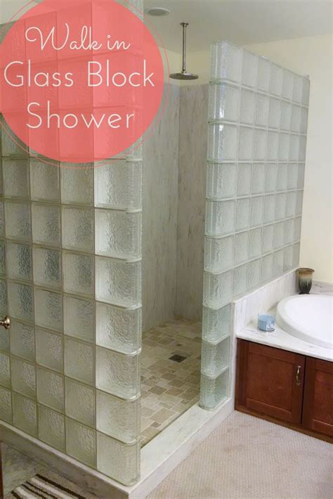 easy clean bathroom design the 25 best glass block shower ideas on pinterest small