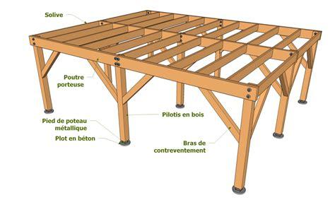 Construire Terrasse Bois Sur Pilotis by Exemple De Plateforme Sur Pilotis Diy