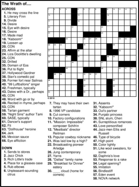 free printable crossword puzzles free printable crossword puzzles easy for adults