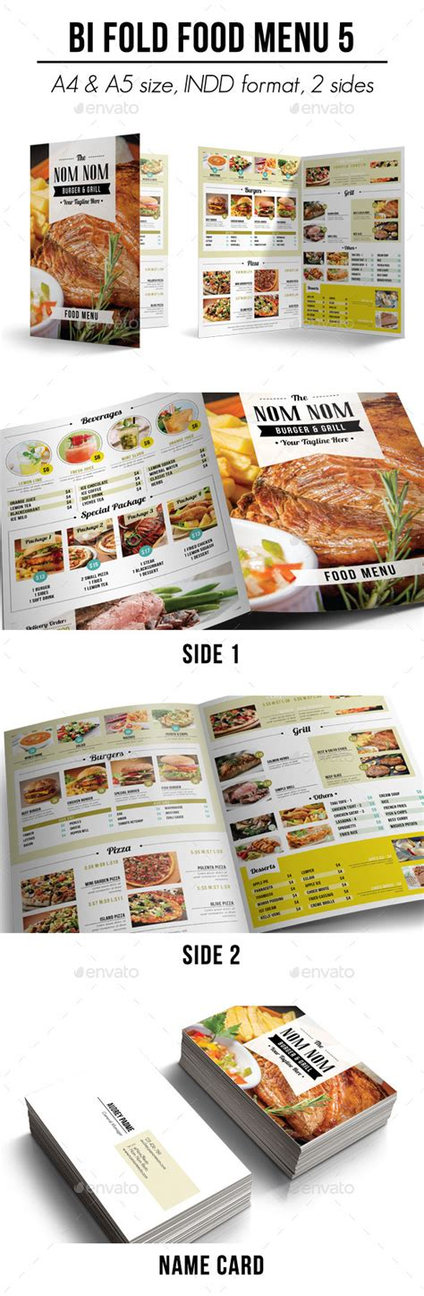 bi fold menu template bi fold food menu 5 by apriliapratama graphicriver