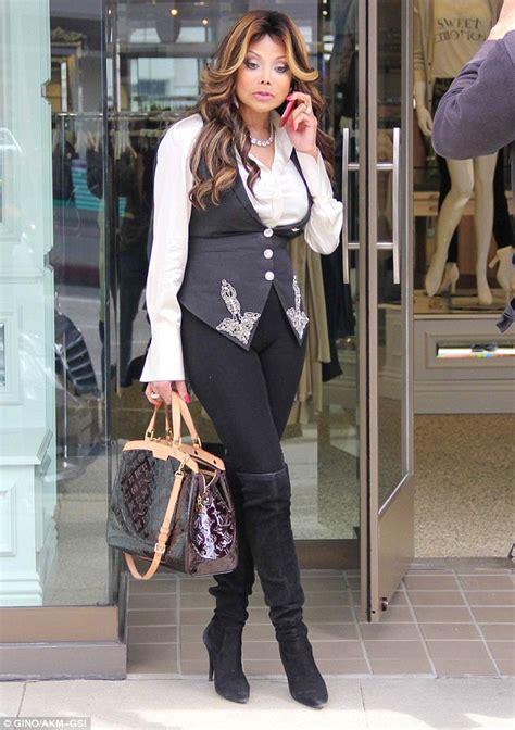Latoja Slim latoya jackson looks glamorous as she for