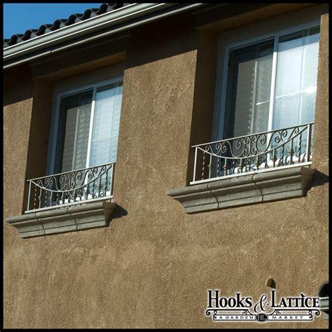 umbria faux balcony railing w scroll work amp balusters