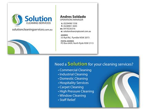 commercial cleaning services business cards www pixshark
