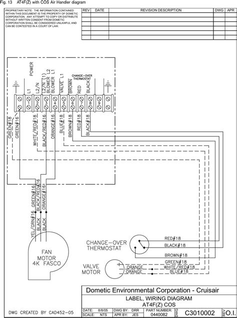 dometic single zone lcd thermostat wiring diagram dometic