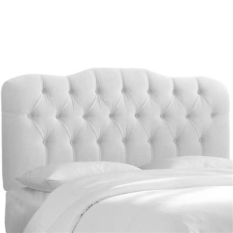 White Tufted Headboard Skyline Furniture White Velvet Tufted Headboard By Skyline Furniture Upholstery Traditional