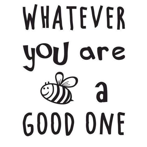 bee wall stickers wallsticker whatever you are bee a one