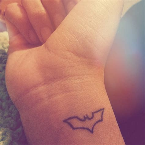 batman tattoo simple my small batman tattoo tattoos pinterest
