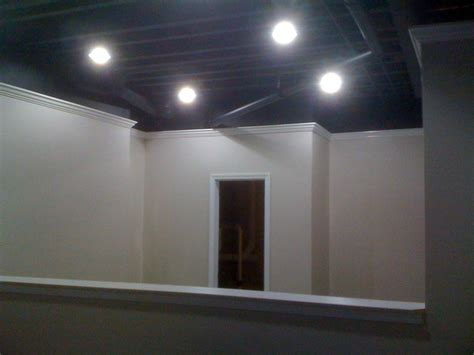 painted basement ceiling details carpentry and remodeling llc basements
