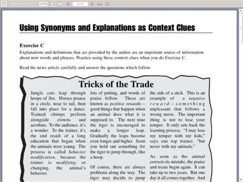 Synonyms And Antonyms Context Clues Worksheets by Reading Comprehension 3rd Grade Context Clues 1000 Ideas