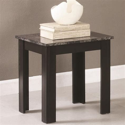 coaster 700375 black marble coffee table set a