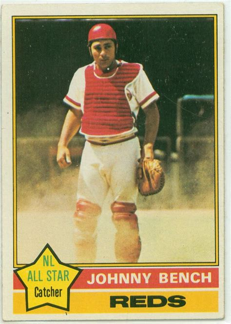 johnny bench career stats 17 best images about baseball cards on pinterest robins
