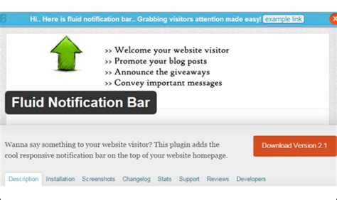 website top bar 12 best notification bar plugins for wordpress dev code geek