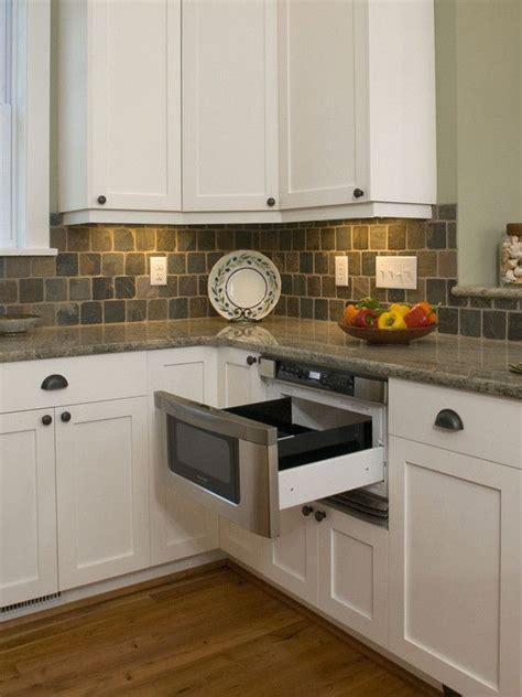 slate backsplashes for kitchens kitchen with undercounter microwave drawer granite countertop slate tile backsplash and