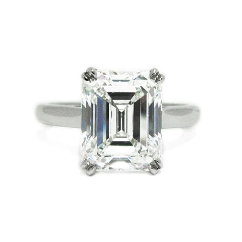 co 4 12 carat emerald cut solitaire