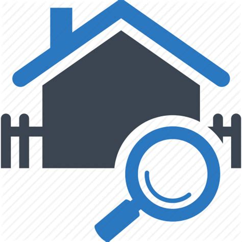 Residential Search Building Fence Find Find Home Home House Magnifier Magnifying Glass Property