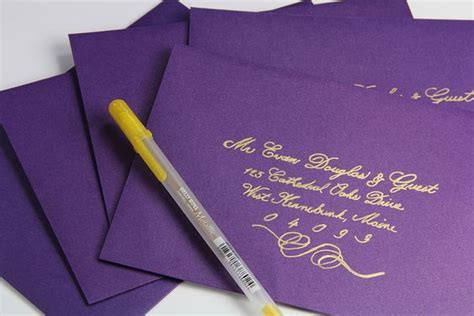 DIY hand calligraphy envelopes at a fraction of the cost