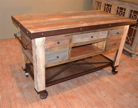 solid wood kitchen island rustic solid reclaimed wood kitchen island with bottom shelf back shelves and casters shelves