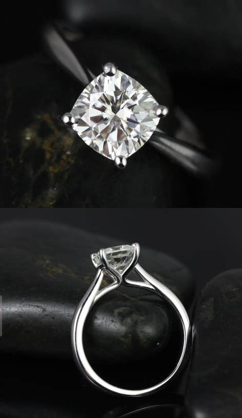 Calling all gals with solitaire (plain band) cushion cut