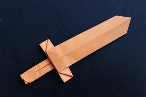 how to make a cool origami paper sword