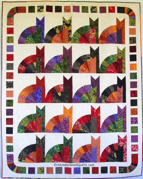 inner cat quilt pattern by erin underwood quilts made