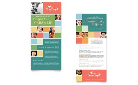 rack cards templates word non profit association for children rack card template