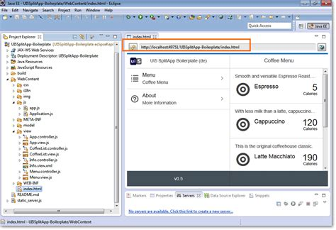 layout ui5 ui5 boilerplate with eclipse sapui5 toolkit mypro