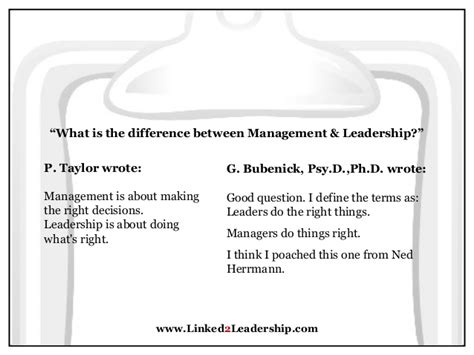 What Is The Difference Between Pmp And Mba by Management Vs Leadership