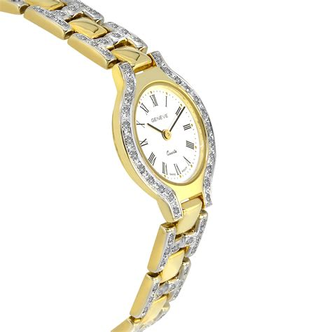 233 ve 14k yellow gold with pave set diamonds