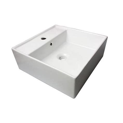 home depot white vessel sink sauberzen vitreous china vanity top vessel sink in