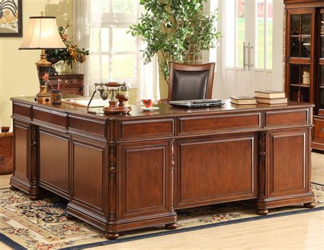 riverside bristol court executive desk large cherry l desk and return by riverside furniture