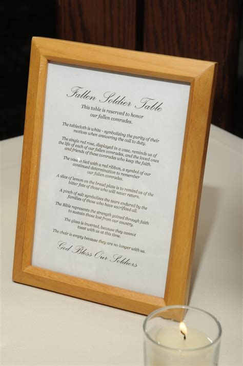 Fallen Soldier Table by Pin By Tina Raville On Wedding Ideas