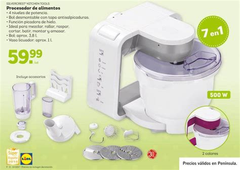 que es procesador de alimentos procesador de alimentos silvercrest de lidl robot de cocina
