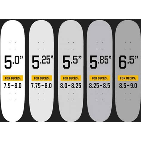 Skateboard Deck Sizes by Theeve Trucks Tiax V3 6 5 Quot Skateboard Trucks