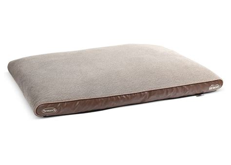 dog memory foam bed scruffs dog bed chateau memory foam plush latte petsonline