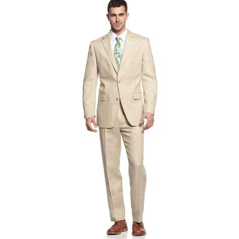 Lyst   Michael kors Natural Linen Suit in Natural for Men